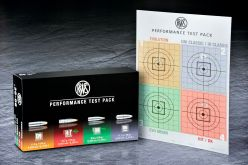 Also presented at the 2016 IWA 2016: The RWS Performance Test-Pack containing five rounds of four different types of rifle cartridges. Great idea!