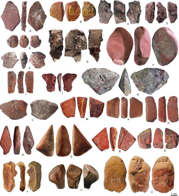 Porc-Epic-luolassa käytettyjä kiviä.