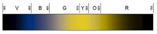 Figure 1-B. Visible Light Spectrum as Seen by Deer.